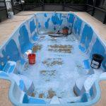 Florida Swimming Pool Resurfaces pre painting.